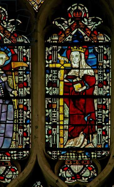 Window depicting St. Helen (stained glass)