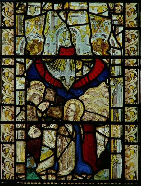 Window depicting the Pentecost (stained glass)