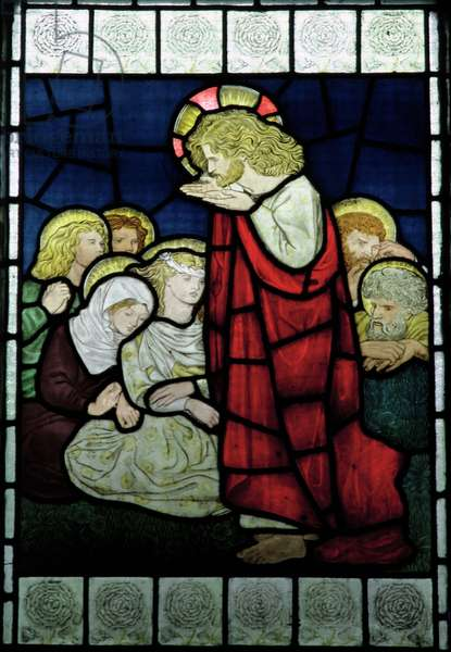 Christ Preaching, c.1870 (stained glass)