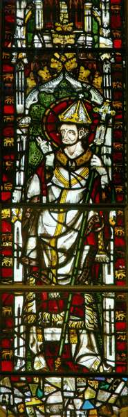 Window depicting a Pope (stained glass)