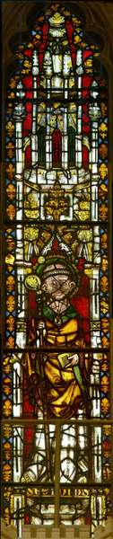 Window depicting St. Giles (stained glass)