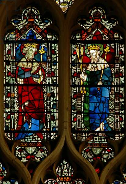 Window depicting Edward the Confessor and King Edmund (stained glass)