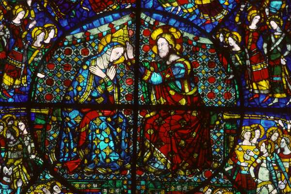 The Coronation of the Virgin, 1365 (stained glass)