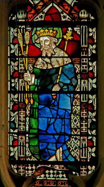 Window depicting King Edmund (stained glass)