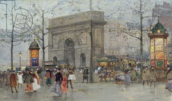 Street scene in Paris (w/c on paper)