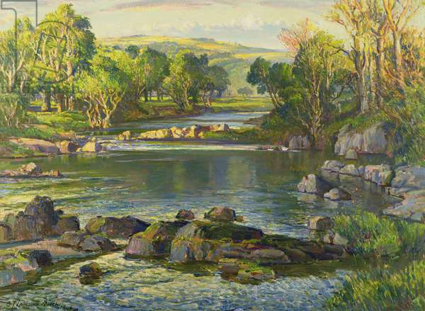 Sunlit Waters, 1948 (oil on canvas)