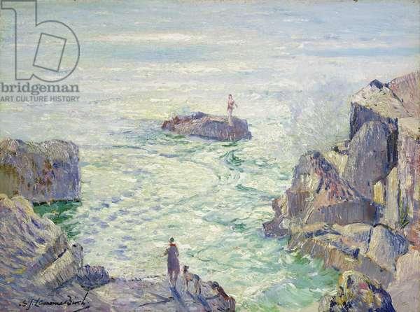 Lamorna Cove (oil on canvas)