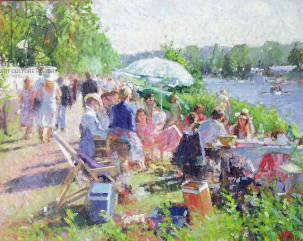 Picnic by the River, 1991 (oil on canvas)