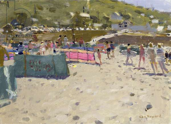 Summer at Sennen I (oil on canvas)