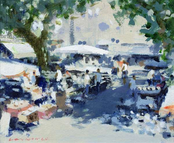 Brocante Market, Antibes (w/c on paper)