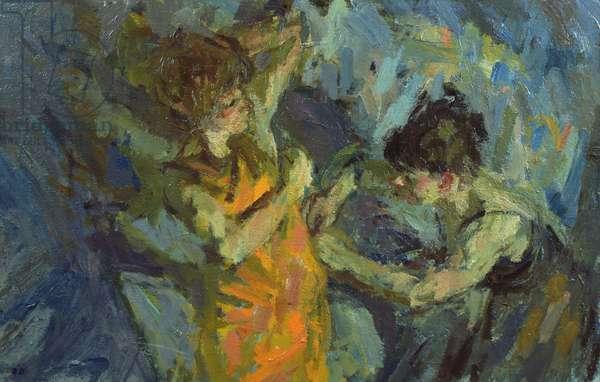 The Dressmaker (oil on canvas)