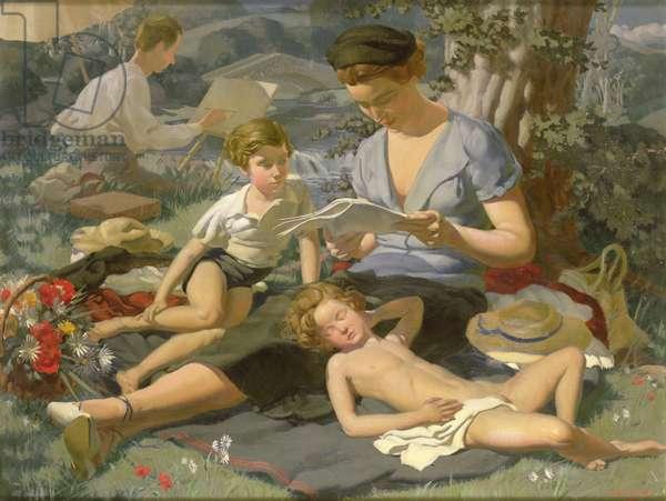Summer Idyll (oil on canvas)