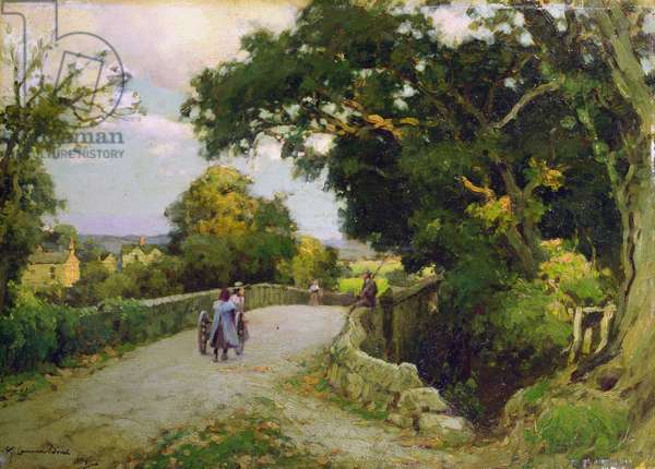 The Road to the Village, 1899 (oil on board)