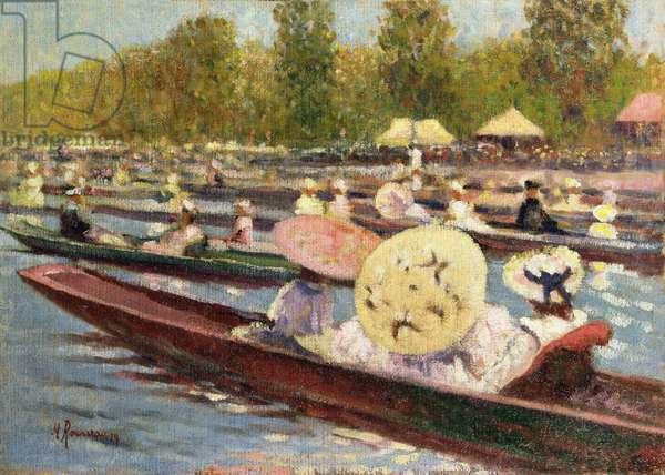 The Regatta (oil on canvas)