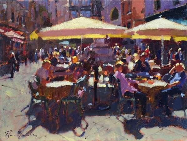 Cafe Italiano (oil on canvas)