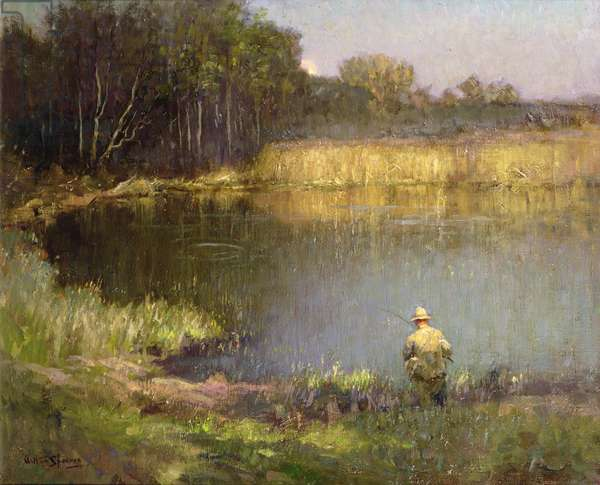 The Angler (oil on canvas)