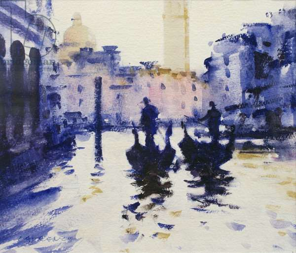 In the Shadows- Venice (w/c on paper)