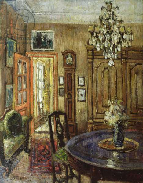 The Orange Door (oil on canvas)