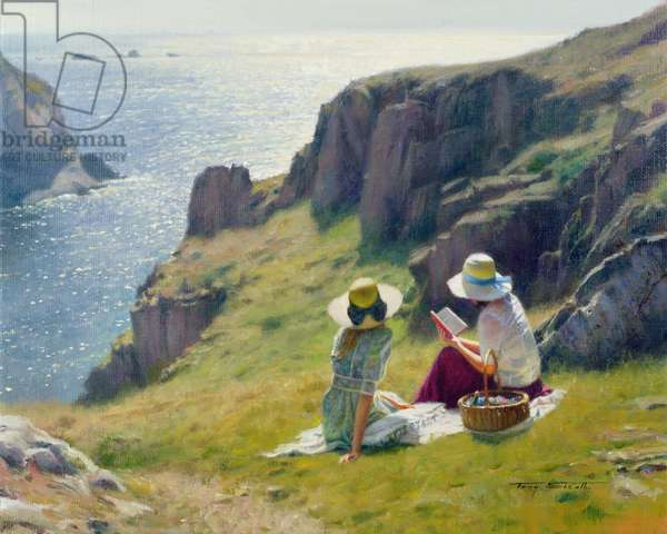 Picnic on the Cliffs (oil on canvas)