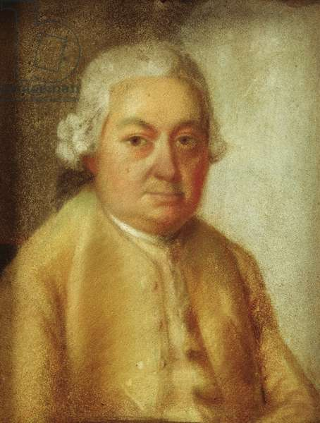 Portrait of Carl Philipp Emanuel Bach, c.1780 (pastel on paper)