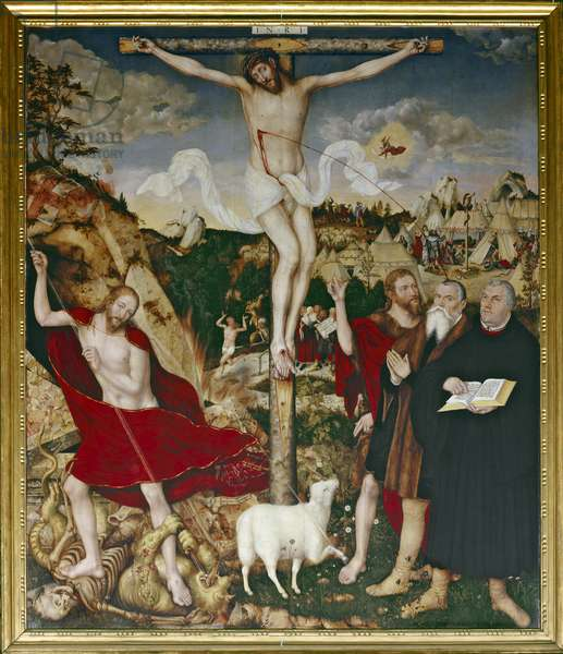 Christ on the Cross, 1552-55 (oil on panel)
