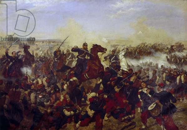 The Battle of Mars de la Tour on the 16th August 1870, 1878 (oil on canvas)