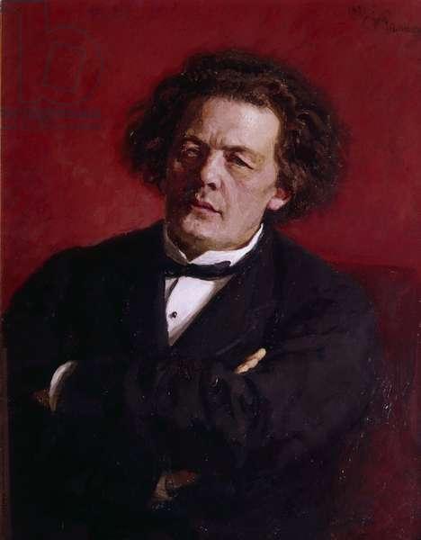 Portrait of Anton Grigoryevich Rubinstein, 1881 (oil on canvas)