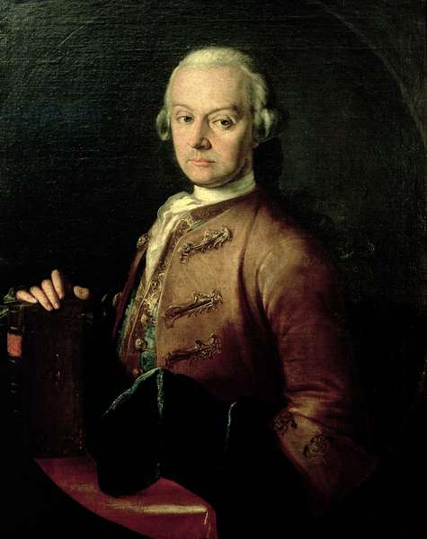 Johann Georg Leopold Mozart (1719-87), father of Wolfgang Amadeus, 1765