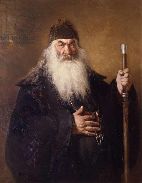 Protodiakon (oil on canvas)