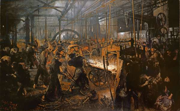 The Iron-Rolling Mill (oil on canvas), 1875