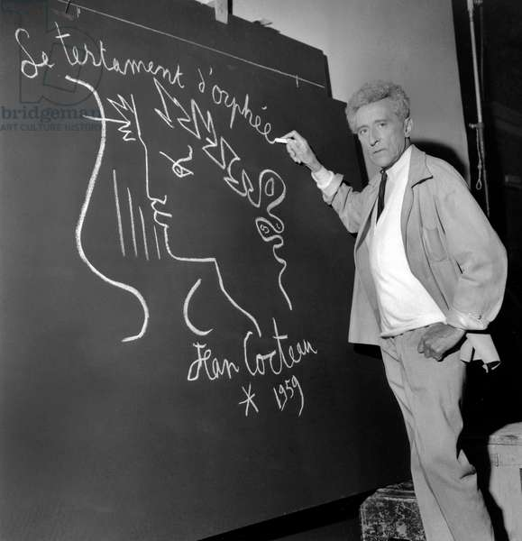 Jean Cocteau Drawing The Title of his Film