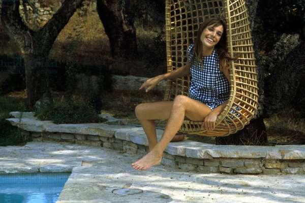 Jane Birkin on the film-set of 'The Sinners', 1968 (photo)