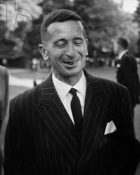 Robert Abdesselam at The Elysee Palace in Paris during A Garden Party With Members of French Parliament, June 16, 1960  (b/w photo)