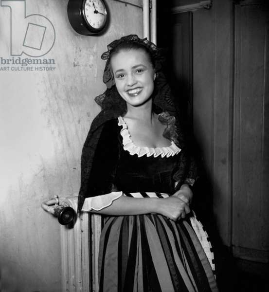 Jeanne Moreau at The Comedie Francaise May 4, 1948 (b/w photo)