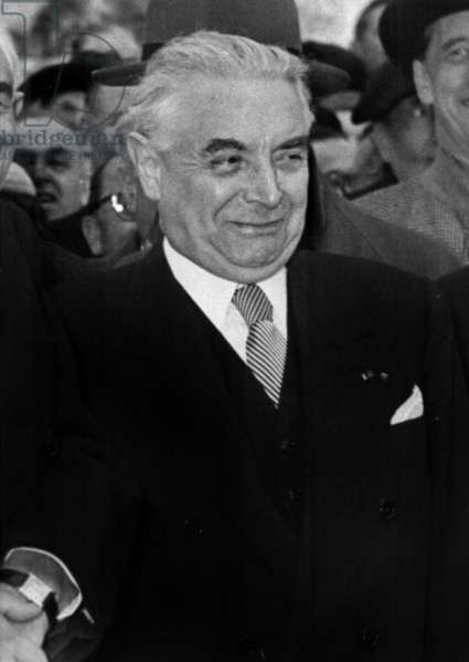 Paul Haag Former Prefect of The Seine, President of The Accomodation,Accused of Offences Against The Law March 14, 1961 (b/w photo)