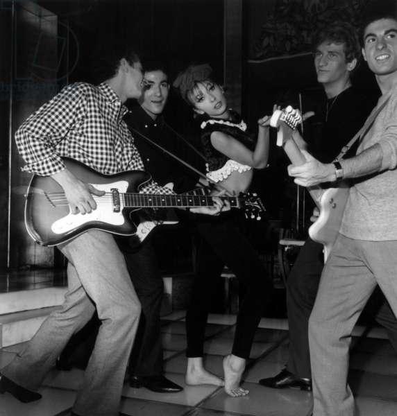 Jacques Poturand, Dany Saval et Eddy Mitchell sur le plateau du film
