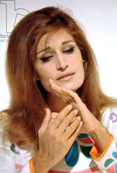 "Singer Dalida during Recording of TV Programme ""Discorama"" on November 4, 1970 (photo)"