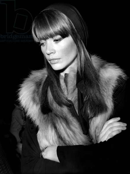 The French Singer, Author and Composer, Francoise Hardy (B.1944) (b/w photo)