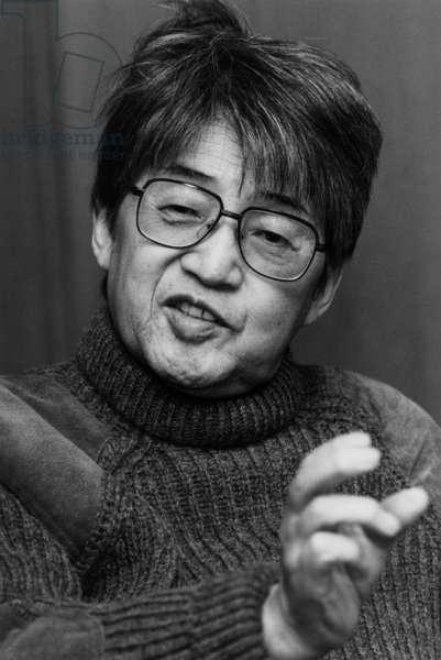 Kobo Abe (1924-1993) Japanese Novelist, C. 1985 (b/w photo)