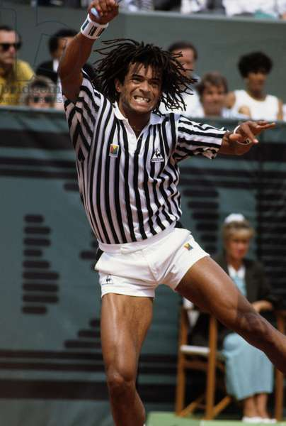 Yannick Noah during The Tennis International Championship of Roland Garros in May 1988 (photo)