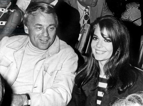Natalie Wood With her 2Nd Husband Richard Gregson May 31, 1969 (b/w photo)