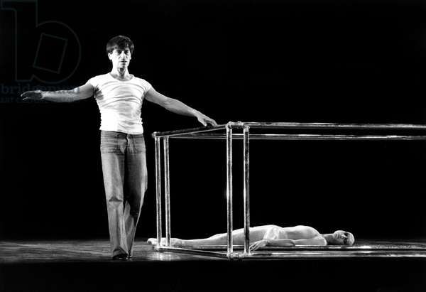 """French Dancers Jean Babilee and Elisabeth Platel in Ballet """"Life"""" By Maurice Bejart in Paris (Opera) June 08, 1979 (b/w photo)"""