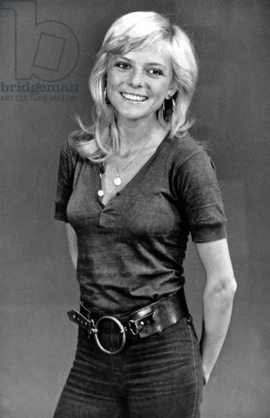 France Gall during TV Programme August 18, 1970 (b/w photo)