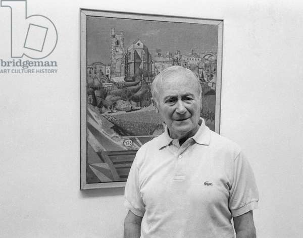 Joan Miro at the Maeght Foundation in Saint Paul de Vence where an exhibition of his work was organised for his 75th birthday, July 24, 1968