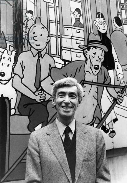 Georges Remi called Herge (1907-1983), belgian draughtsman, author of comic strips (Tintin), here in 1979