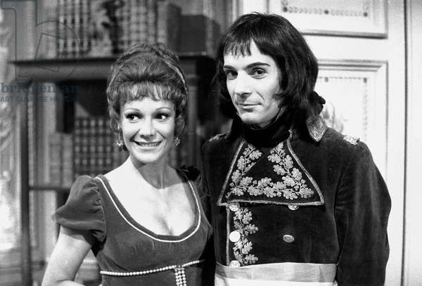 Acteurs français Evelyne Dandry et Pierre Arditi As Josephine and Napoléon 1st For Tvseries 08 August 1972 (b/w photo)