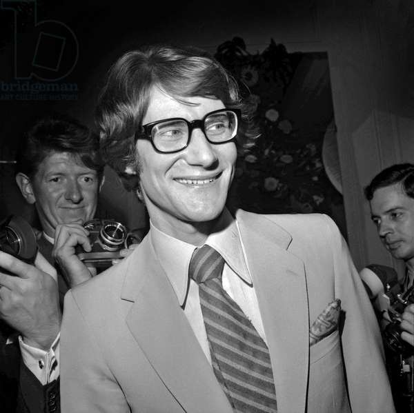 Yves Saint-Laurent, 1967 (b/w photo)