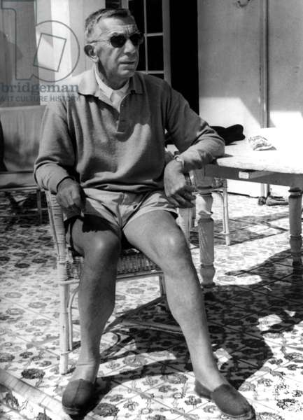 French Writer Marcel Ayme on Holidays October 16, 1962 (b/w photo)