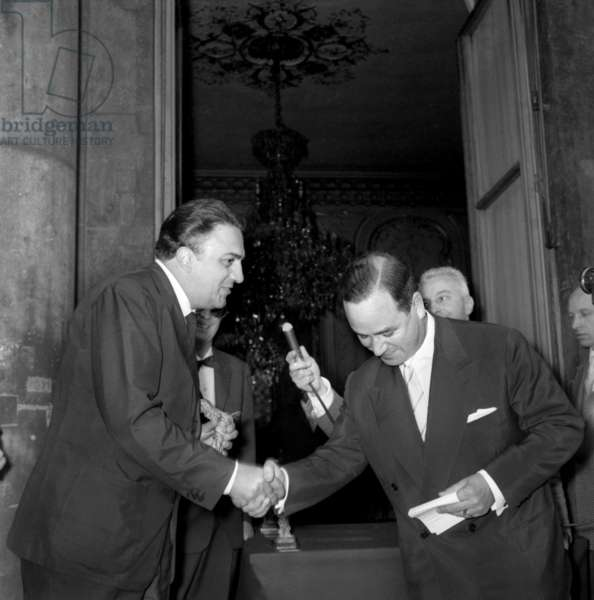 On July 4, 1958 in Paris, Prize Giving Ceremony (