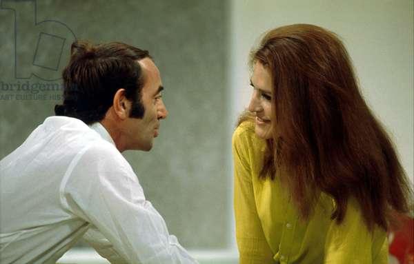Charles Aznavour and Dalida C. 1984 (photo)
